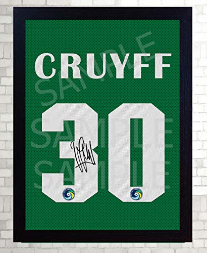 Cosmo Gerahmt (SGH SERVICES NEU! Johan Cruyff NY Cosmos Autogramm auf Leinwand, gerahmt, 100% Baumwolle)