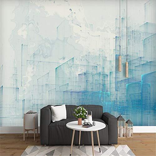 Steaean Benutzerdefinierte Tapete Norden Auf Einfache Moderne Wand-Abstrakte Stadtarchitektur-Aquarell Retro-Wandpapierwand, 300 * 210Cm -