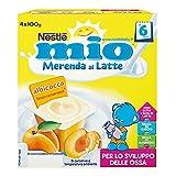 Nestlé Mio Merenda al Latte e Albicocca, 4 Vasetti x 100 g
