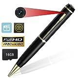 Electek Versteckte Kamera, Spion Kugelschreiber Kamera Full HD 1080P Bundle mit Neu Batterie und USB Stecker,bis zu 16GB