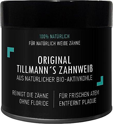 Natürliches Aktivkohle Zahnaufhellung mit Aktivkohle Pulver 50g ( activated charcoal teeth whitening