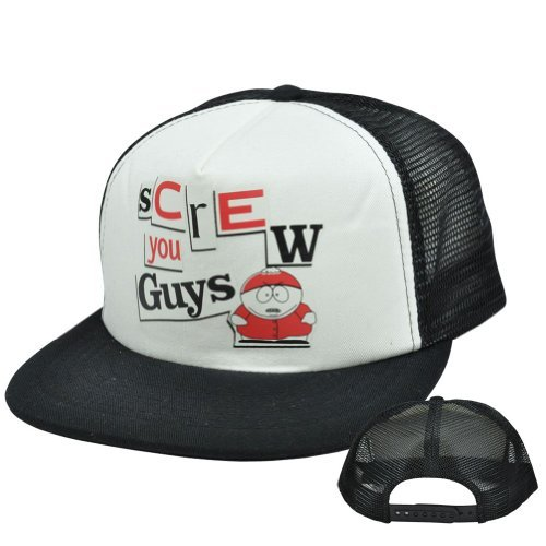 comedy-central-south-park-eric-cartman-screw-you-guys-flat-trucker-snapback-hat-by-comedy-central