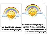button4u Sternenkind 4 Folien für Grablicht Kerze Trauerkerze Regenbogen Regenbogenbrücke Sonne