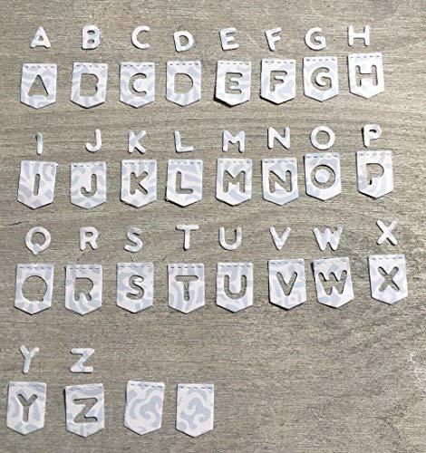 Simplelettering Stanzschablone/Cutting Dies Alphabet Buchstaben ABC Wimpel für Big Shot -
