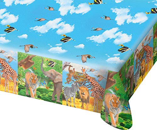 Folat NEU Tischdecke Safari Party, ca. 130x180 cm