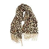 Sciarpa Cashmere Donna, bzline Signore Inverno Spesso Cappuccio Cape A Leopardo Soft Lungo Cover