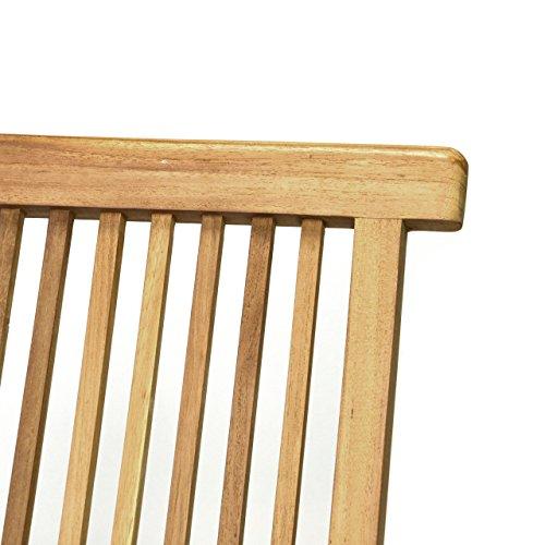 DIVERO 2er-Set Klappstuhl Teakstuhl Gartenstuhl Teak Holz Stuhl für Terrasse Balkon Wintergarten witterungsbeständig behandelt massiv klappbar natur - 2