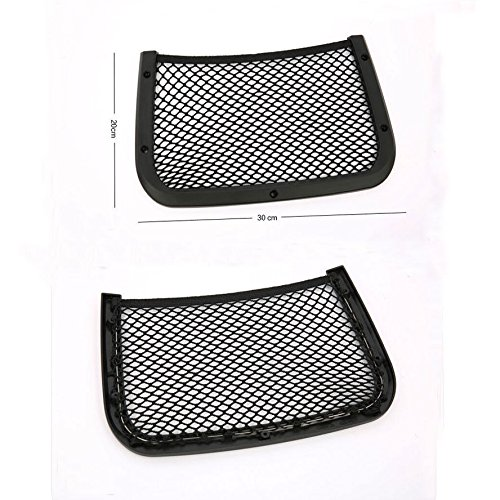 Duspper - 1pc Car Seat Back Bag Storage Luggage Organizer Holder Mesh Cargo Pouch for Jeep Compass Audi A4L X1 X3 Benz B Series [Black]