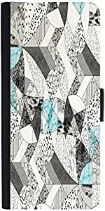 Snoogg Abstract Math Graphic Snap On Hard Back Leather + Pc Flip Cover Apple ...
