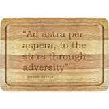 Image for board game Stamp Press 'Ad astra per aspera, to the stars through adversity' Quote By Morgan Matson Wooden Chopping Board (WB00014817)