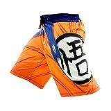 """W207torm Saiyan Hombre para el entrenamiento pantalones cortos de color naranja, 30"""" (Small)"""