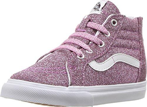 inder Sk8-Hallo Zip (Lurex Glitzer) Skate-Schuh 4 Kleinkinder US 4 M US Kind Rosa/Wahre ()