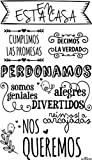 Enkolor/Vinilos decorativos frases Normas casa/Pegatinas pared/Negro/60X100cm.