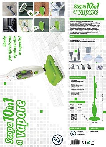 Eglemtek® Steam Mop X10 Evolution 10-in-1 Dampfreiniger mit umfangreichem Zubehör - 2