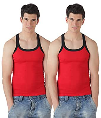 T.T. Men's Addy Gym Cotton Vest (Pack Of 2) [Assorted_100]