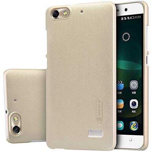 Nillkin Huawei Honor 4C Hülle, [Anti-Slip] [Schlank Passen] Frosted Tasche Ultra dünne Matt Hart Schutzhülle, Back Cover Case mit Bildschirmschutz Folie - Gold