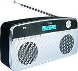 SCHWAIGER 098- Digital Radio DAB/DAB+, tragbar, mit Stab-Antenne und Wecker-Funktion, UKW & DAB Empfang, Betrieb via Netzteil oder Batterie, beleuchtetes LCD Display, automatischer Sendersuchlauf