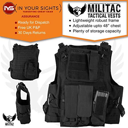 Militac - Chaleco táctico Delta,perfecto para airsoft, asalto, combat