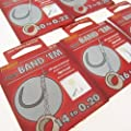 FTD - 18 (3 packs of 6) of Single Size MIDDY BAND 'EM (PELLET) CARP Barbless Fishing hooks Hair Rigs available in (sizes 10, 12, 14, 16 & 18) - comes with 10 FTD Barbless Hooks to Nylon from FTD & MIDDY