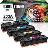 Cool Toner 4 Cartouches Comapatible pour HP 203A 203X CF540A CF540X CF541A CF542A...