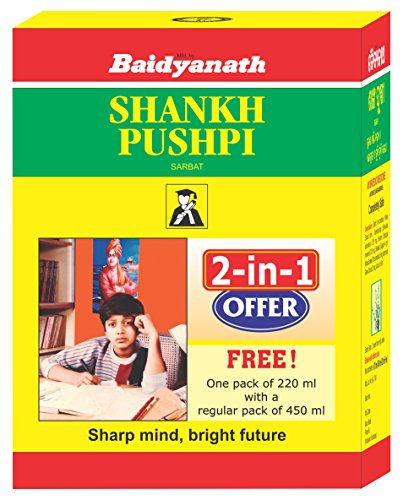 Baidyanath Shankhapushpi Sharbat – 450 ml with Free Sharbat – 220 ml