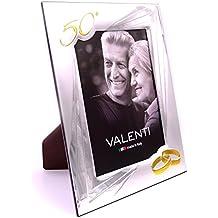 Marco para foto de bodas de oro, 18 x 24 cm, de Valenti Argenti