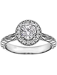 Silvernshine 1.18 Carat White Cubic Zirconia Diamond 10k White Gold Plated Wedding Ring For Womens