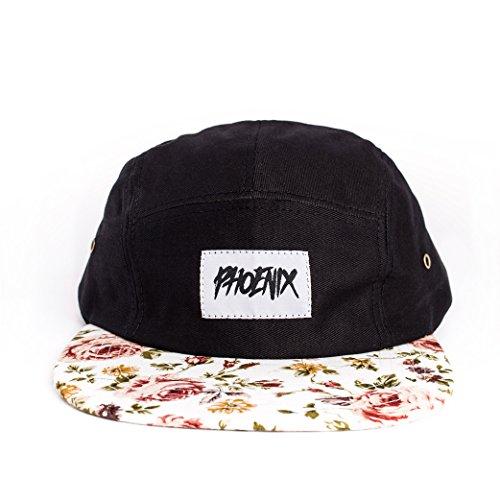Phoenix 5-Panel Cap Casquette Avec Motif Floral Unisexe Baseball Hat Chapeau Snow