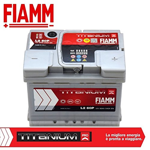 Batteria auto da 60AH 12V 540A cassetta L2 60P Titanium Pro