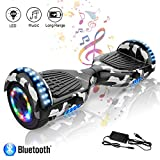 COLORWAY Hoverboard 6.5 Pouces avec Roues Flash LED Multicolores, 700W Gyropode Bluetooth, Scooter Electrique Auto-équilibrage...