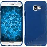 Coque en Silicone pour Samsung Galaxy A3 (2016) A310 - S-Style bleu - Cover PhoneNatic Cubierta + films de protection