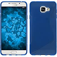 Coque en Silicone pour Samsung Galaxy A3 (2016) A310 - S-Style bleu - Cover PhoneNatic Cubierta + films de protection