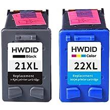 ce4f8f24d792d5 reconditionnées Lot de 2 cartouches d encre de remplacement pour HP 21 XL  Noir (