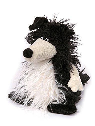 sigikid, Kuscheltier für Erwachsene und Kinder, Hund, Taco Tuesday, Sweet Beasts, Schwarz-weiß, 22 x 15 x 15 cm -