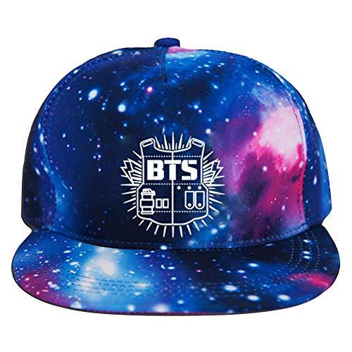 Teblacker BTS Baseball Cap, Unisex SNSD Kpop BTS got7Siebzehn Blackpink Monsta X Casual verstellbar Starry Snapback Hat für Sport & Outdoor, Bangtan