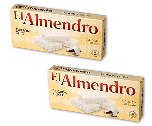 El Almendro - Pack incluye 2 Turrón de coco 200gr Calidad suprema Sin gluten
