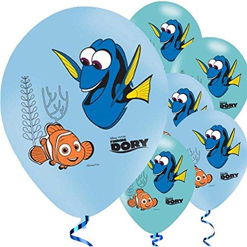 (Fancy Me Mädchen Jungen Kleinkinder Unterwasser Disney Findet Dory Nemo Seefisch unter dem Motto Geburtstag Party Feier Geschirr Dekorationen Zubehör (Ballons))