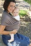 Babytragetuch - elastisches Tragetuch für Früh- und Neugeborene Kleinkinder - inkl. Baby Wrap Carrier Anleitung (Baby Sling- Light)