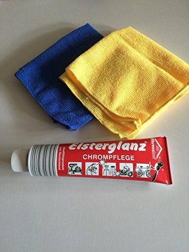 Elsterglanz Chrompflege Polierpaste 150 ml und 2...