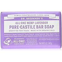 Dr. Bronner's Magic Soaps, Lavande chanvre, Savon pur de Castille, 5 oz (140 g) Bar