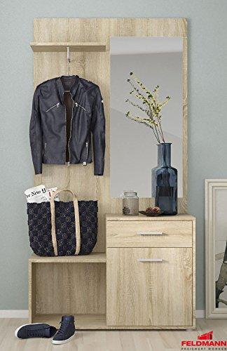 Garderobe Kompaktgarderobe mit Spiegel 1689141 sonoma eiche