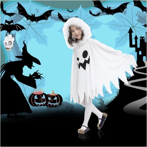 Fancy Steps Halloween White Fancy Dress Costumes for Kids, 4 to 6 Years