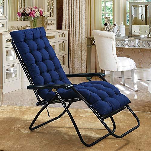 RONSHIN Faltbare verdicken Stuhl Kissen doppelseitige Sitz Matte Tatami Matte für Herbst/Winter Recliner Supplies Navy 48X120 (Faltbarer Stuhl-matte)