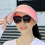 JYJSYM Sommer, Sonne, Hut, Bekleidung, Kleid und Hut Hut, Sonne, Sommer - Sonnencreme, Anti - UV - Helm, Beach - Outdoor - Helm,die ampel ist Rot Eine