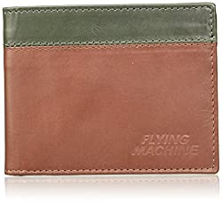 Flying Machine Tan Green Mens Wallet (FMAW0236)