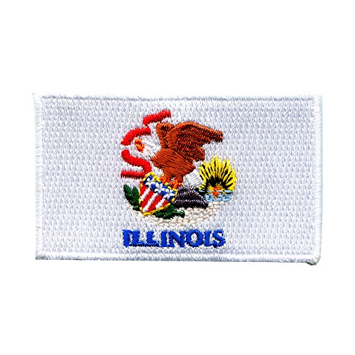 Illinois Springfield Chicago Amerika US Bundesstaaten Patch Aufnäher Aufbügler 0065