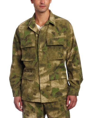 Propper Herren BDU Mantel Jacke, Herren, A-TACS FG Camo, X-Small Camo Propper Bdu Shirt