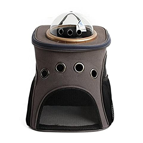 Capsule Pet Backpack Airline Approved Transparent Respirant Venthole Dog Cat Carrier Portable Sac à Main Voyage En Plein Air Walking Walking Suitcase Grand Espace 3 Couleur , gray