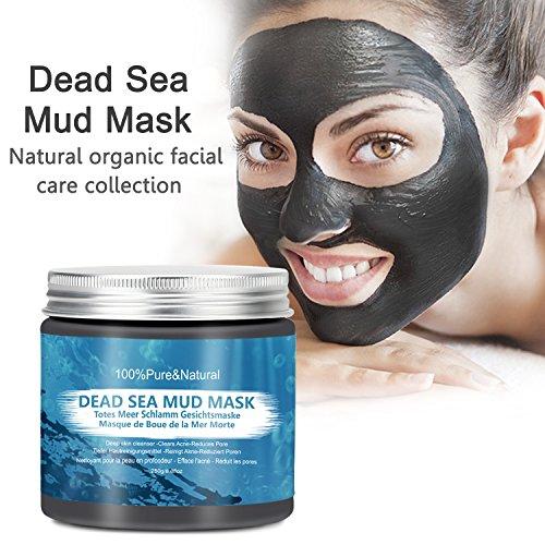 Totes Meer Schlamm Gesichtsmaske für Gesicht, Akne, fettige Haut& Mitesser, Siman Pure Reinigung Anti Aging Natural Dead Sea Mud Mask Gesicht & Körper-Maske, für Frauen& - Totes Gesicht Peeling Meer
