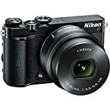 Nikon 1 J5 20.8MP Digital SLR Camera (Black) with 10-30mm VR Lens